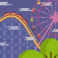 Ilustração vetorial do parque de diversões vetor
