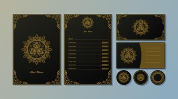 Elegante vector de modelo de menu tailandês