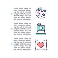 ícone do conceito de melhoria do sono com texto vetor