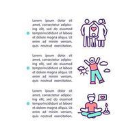 ícone de conceito de melhoria de qualidade de vida com texto vetor