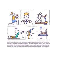 ícone do conceito de reabilitação com texto vetor