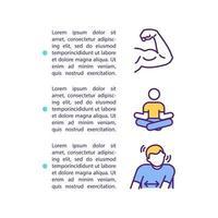 ícone do conceito de liberação de músculo hipertônico com texto vetor