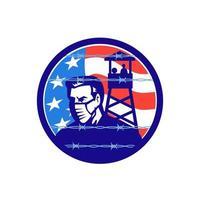 América em ícone de isolamento de bloqueio