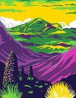 Parque Nacional Haleakala e Vulcão Haleakala em Maui vetor
