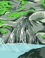 Parque Nacional Hot Springs em Garland County, Arkansas vetor