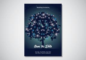 Convite mágico do cartão do jardim vetor