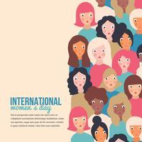 Mulheres março vetor