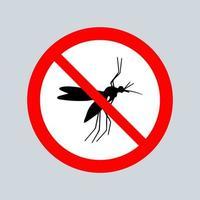 pare o sinal do mosquito vetor