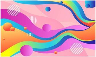 fundo de fluxo colorido. fundo de formas coloridas abstratas vetor
