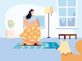 casal e animal de estimação em casa