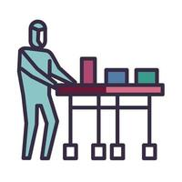 Ícone de entrega de medicamento na pandemia de coronavírus vetor