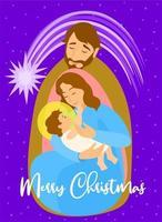 familia sagrada. Maria carregando o bebê jesus