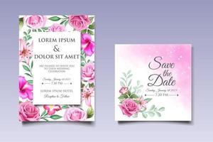 bela mão desenhando modelo de convite de casamento floral