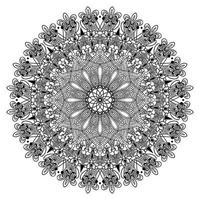 floral ornamental ponto árabe forma abstrata desenho de mandala arabescos e fundo islâmico vetor