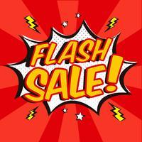 Fundo de venda de flash de estilo cômico vetor