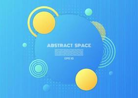 espaço abstrato fundo forma de círculo geométrico meio-tom estilo de linha moderna pano de fundo vetor