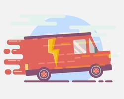ilustração do conceito de entrega de frete expresso vetor