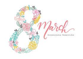 Vetor De Fundo Dia Internacional Da Mulher