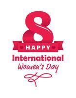 Cartaz internacional do dia das mulheres vetor