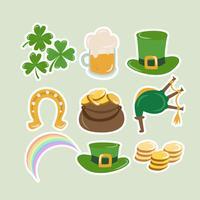 Elementos do dia do St. Patrick do vetor
