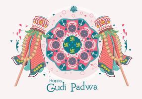 vetor de ilustração de gudi padwa
