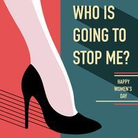 Vetor do Dia Internacional das Mulheres