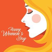 Ilustração internacional do dia das mulheres vetor