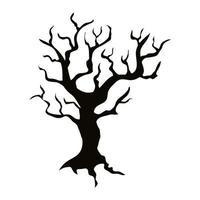 ícone isolado de planta de árvore seca vetor