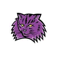 mascote gato da floresta norueguesa vetor