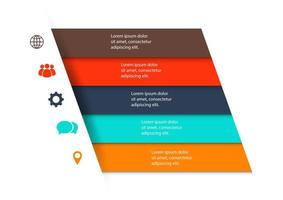 modelo de design de infográfico com 5 etapas vetor