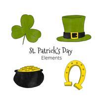 Elementos do dia de St Patrick do desenho animado