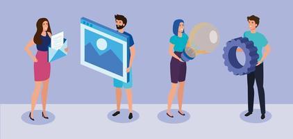 encontro de empresários com ícones