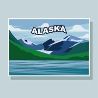 Cartão do vetorial da ilustração do Alasca vetor