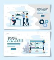 análise de negócios estatísticas vetoriais design vetor