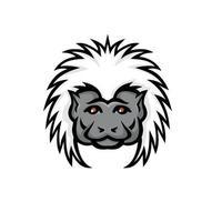 algodão top mico mascote cabeça de macaco cor