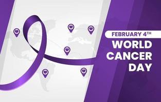 simples dia mundial moderno do câncer vetor