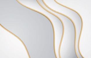 fundo branco luxuoso com linha dourada vetor