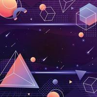 fundo de futurismo de espaço geométrico vetor