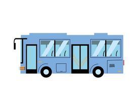 ônibus moderno azul para transportar pessoas, serviço público vetor