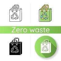 ícone de sacola de compras reutilizável