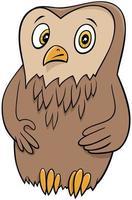 coruja animal fofa personagem vetor