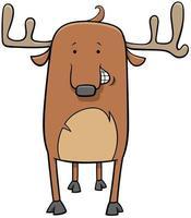 ilustração de desenho animado de cervo vetor