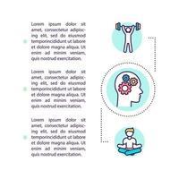 ícone de conceito de hackeamento de corpo e mente com texto vetor