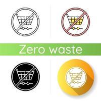 ícone anti-consumismo vetor