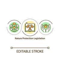 ícone do conceito de legislação de proteção da natureza vetor