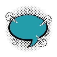 estilo pop art da bolha do discurso vetor