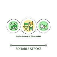 ícone do conceito de cineasta ambiental vetor