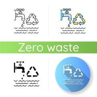 ícone de redução do uso de água