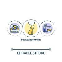 ícone de conceito de abandono de animal de estimação vetor