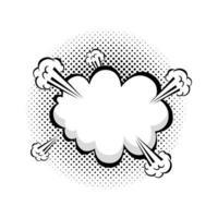 ícone de estilo pop art de explosão de nuvem